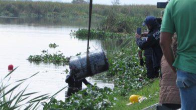 Encuentran cuerpo e un tambo en el Río Lerma