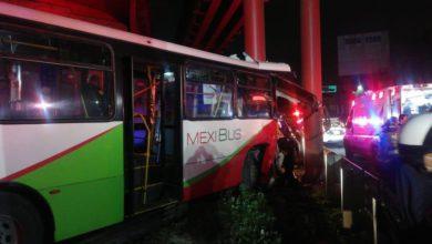 accidente de mexibús deja 10 heridos