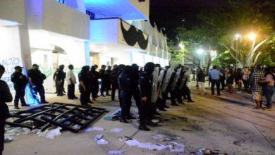Protesta en Cancún