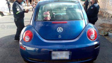 Vehículo robado en Malinalco