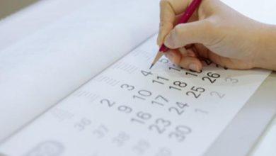 Calendario de días festivos