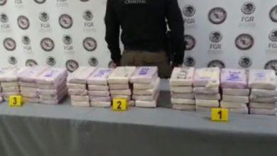 Paquetes de droga decomisada