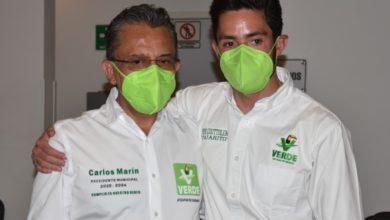 • Pepe Coutteolenc resaltó las cualidades de Carlos Marín y Gonzalo Alarcón, candidatos a la presidencia municipal y a la diputación respectivamente