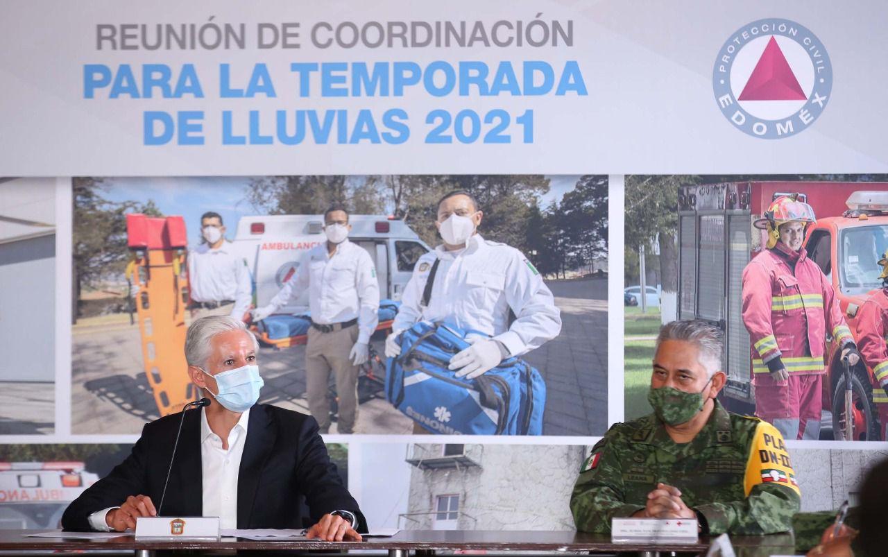 En la reunión de Coordinación para la Temporada de Lluvias 2021