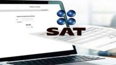 logo del SAT en computadora