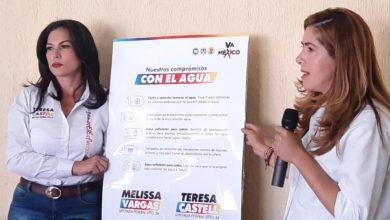 Las candidatas Teresa Castell y Melisa Vargas de Va por México
