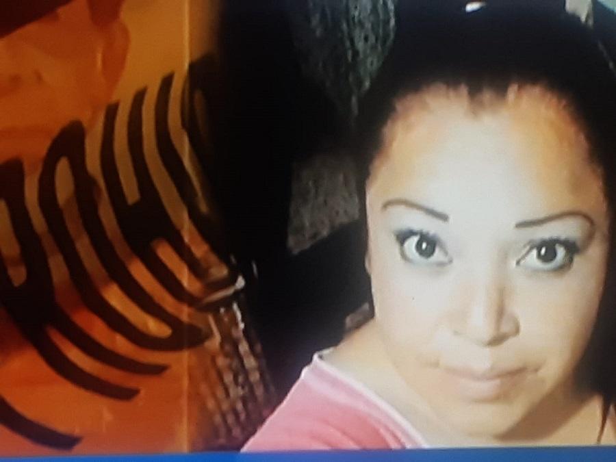 Mujer desaparecida, ficha de búsqueda, Martha Andrade, 2017, usa playera rosa