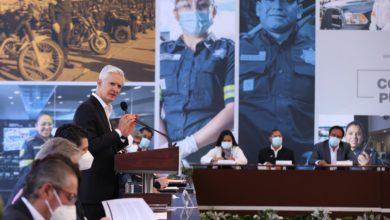El gobernador del Estado de México durante la Cuarta Sesión Ordinaria de Seguridad Pública