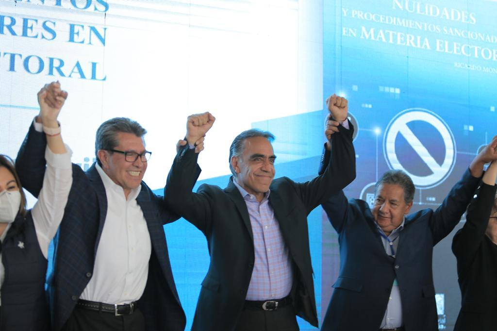 Senadores de diferentes comisiones apoyando al candidato de Huixquilucan