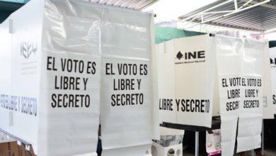 Casilla para emitir el voto electoral