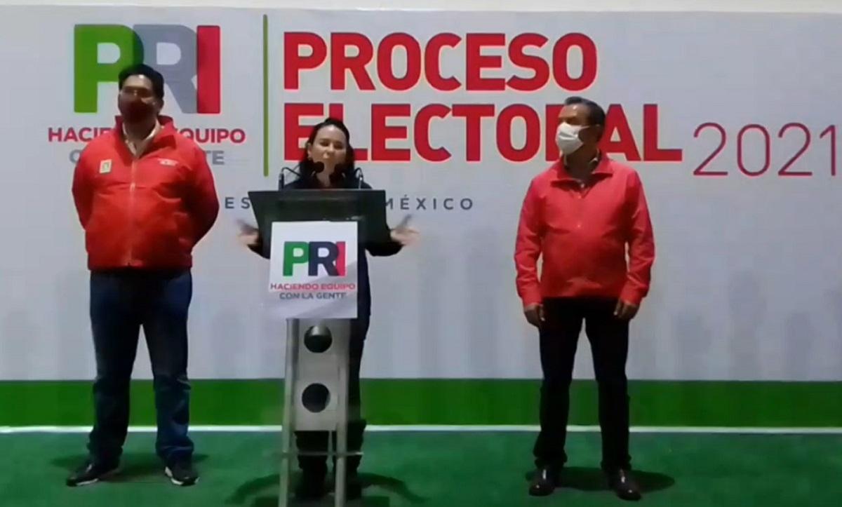 La dirigente estatal del PRI, Alejandra Del Moral Vela