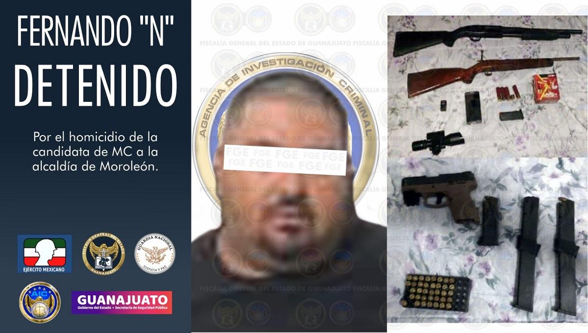 """Fernando """"N"""" presunto homicida de la candidata de Moroleón"""