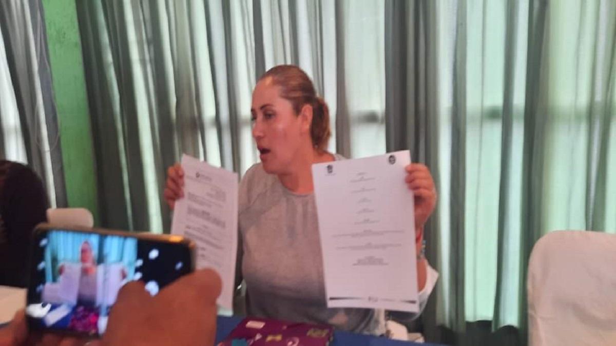La presidenta del Comité Autónomo de Agua Potable de Chalco
