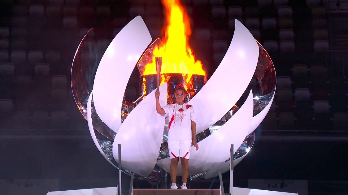El encendido de la flama olímpica