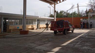 Limpieza de escuela en Texcoco