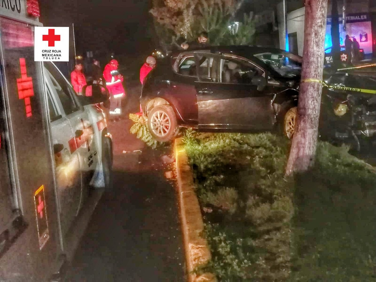 Personal de Cruz Roja atendió el incidente