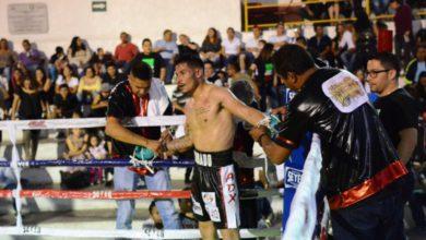 El encuentro de box en Metepec