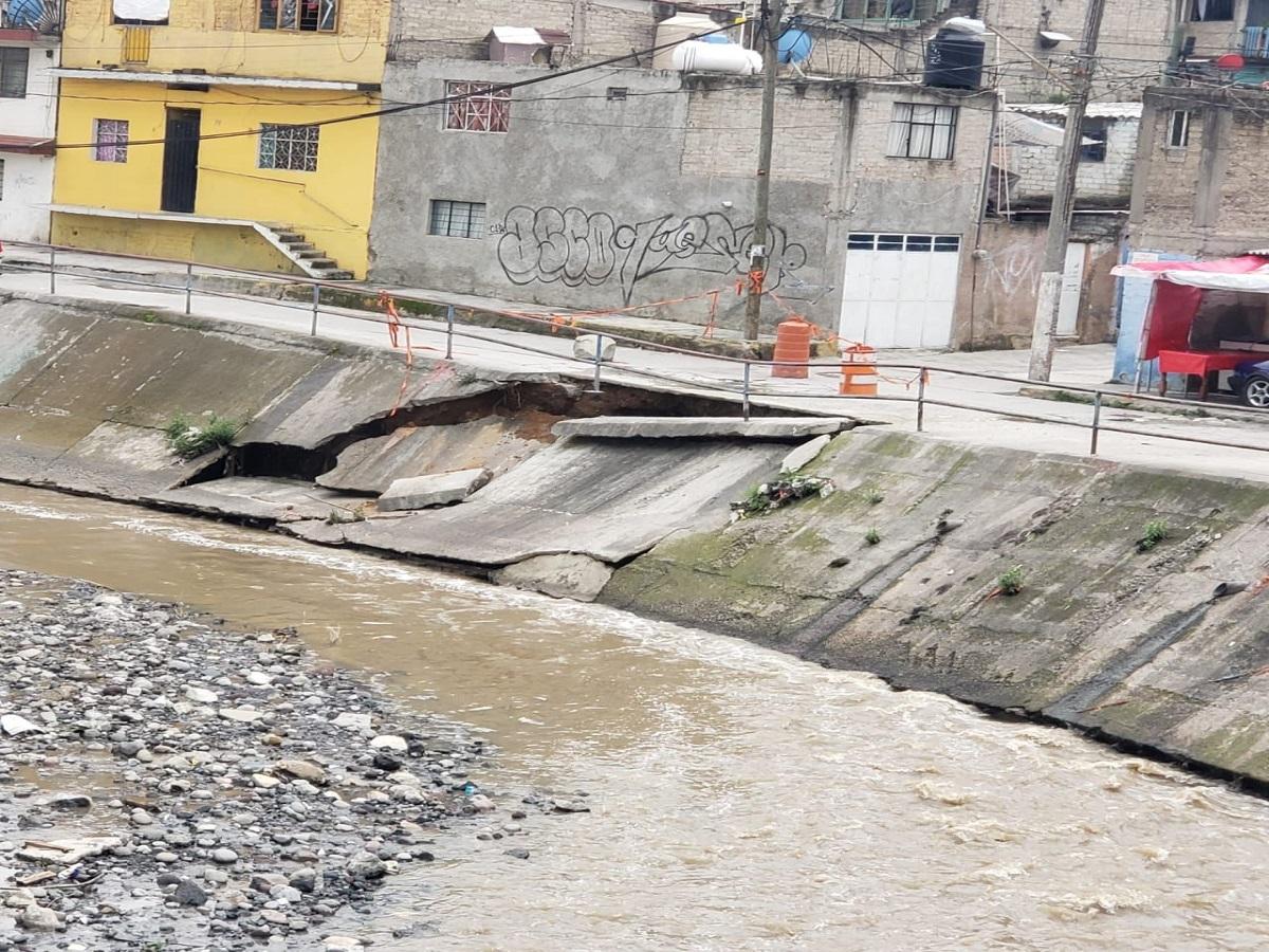 La fisura en Río Hondo, Naucalpan