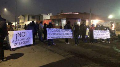 manifestación en Metepec