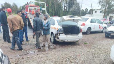 A través de una cámara del C5 se reportó el accidente