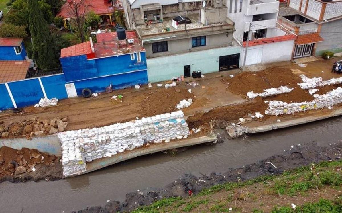 Los habitantes de este municipio no duermen ante el miedo que desborde el río