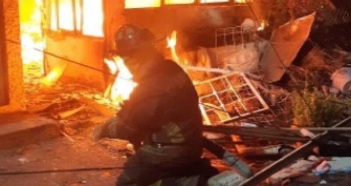 La explosión se registró en un domicilio particular