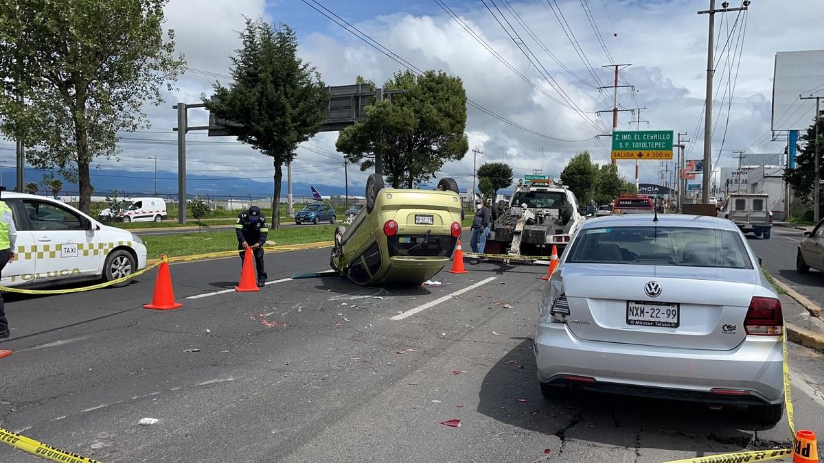 En el accidente estuvieron involurados tres vehículos