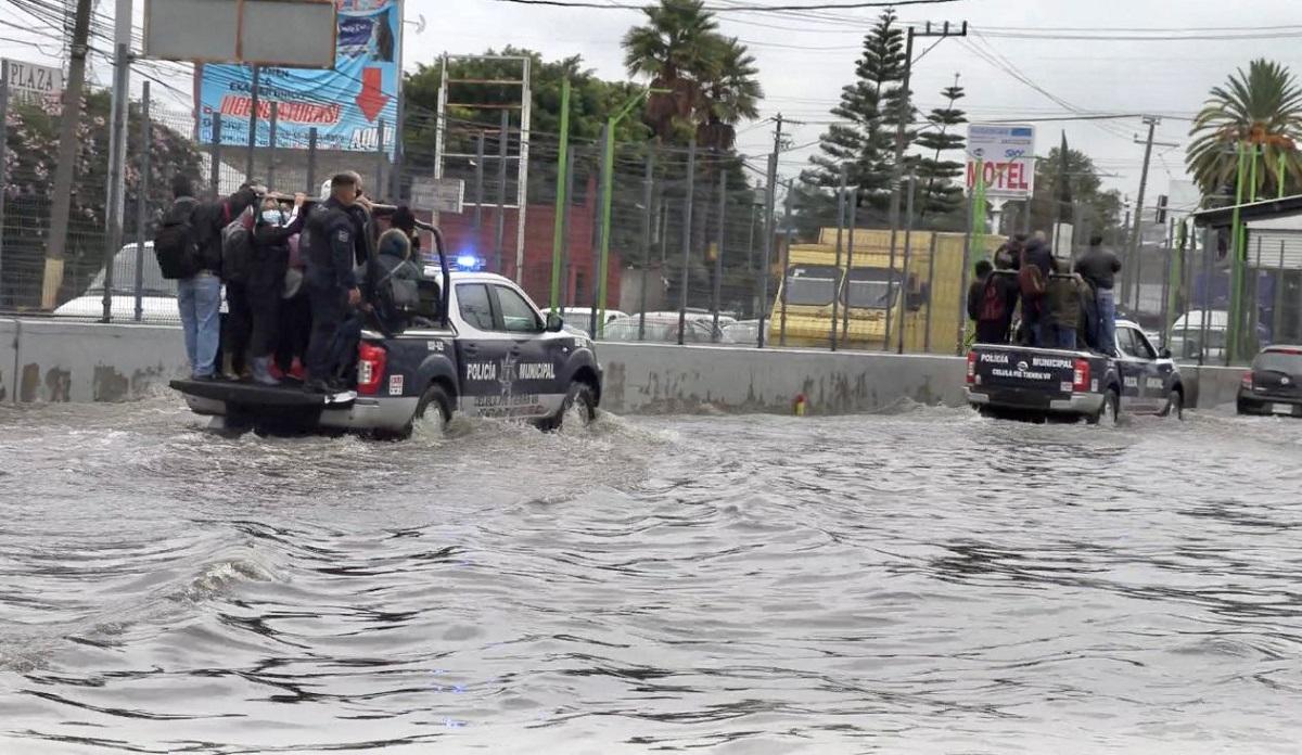 Inundaciones en Ecatepec y Tecámac