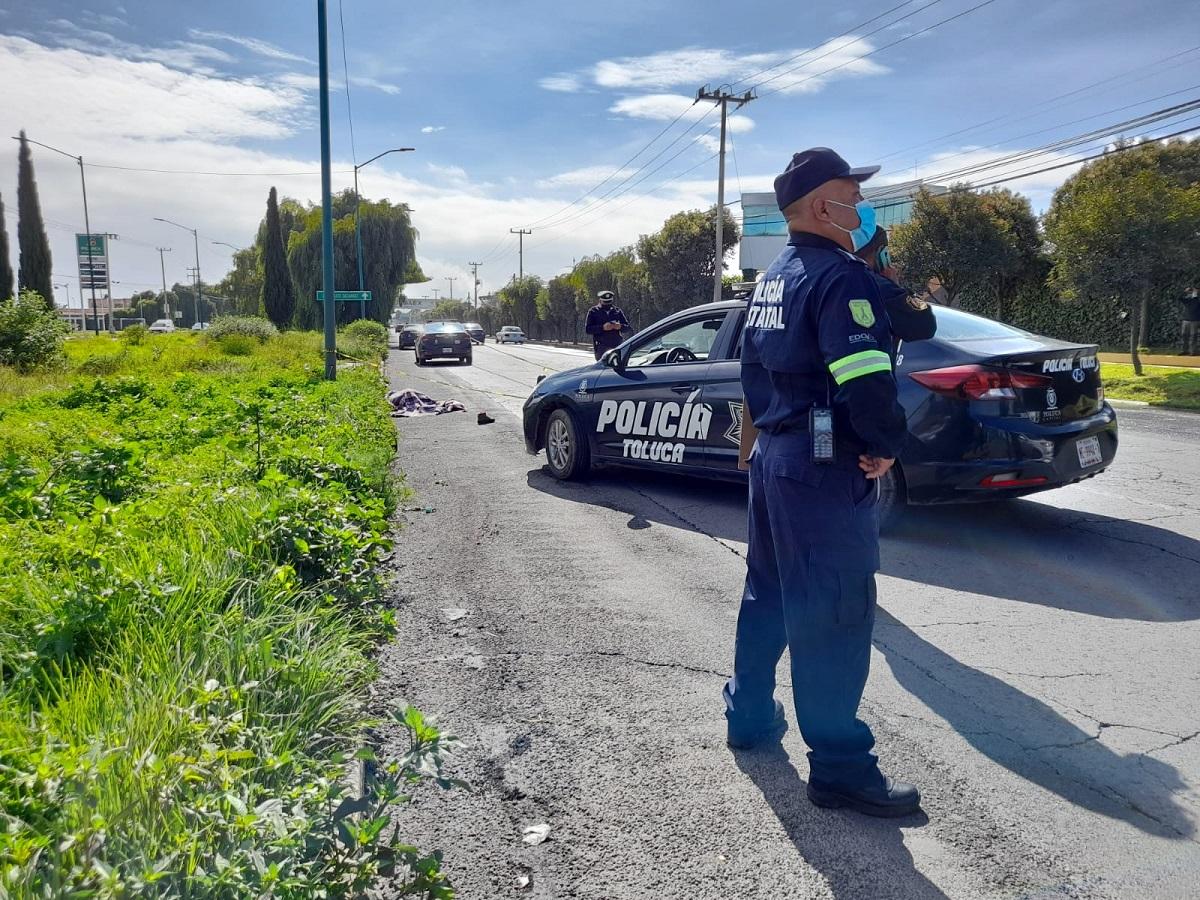 La víctima fue impactada por una camioneta tipo Pick up