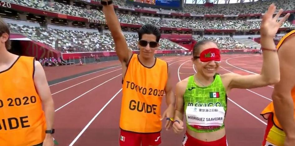 La corredora impuso un récord mundial