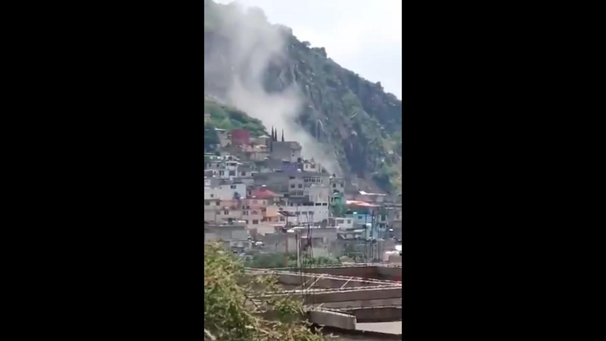 Derrumbe en mina de Ecatepec