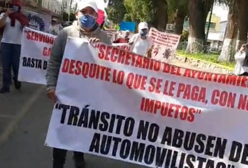 Manifestación en Cuautitlán