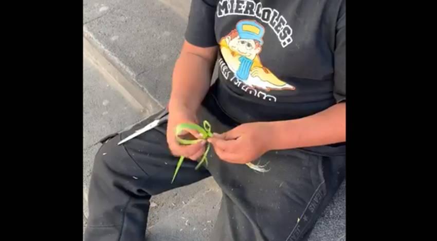 niños artesanos