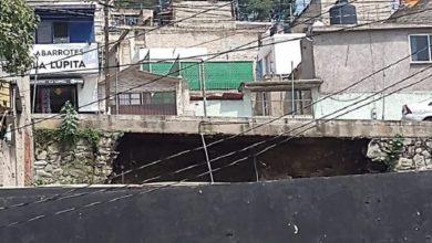 Socavón en Naucalpan