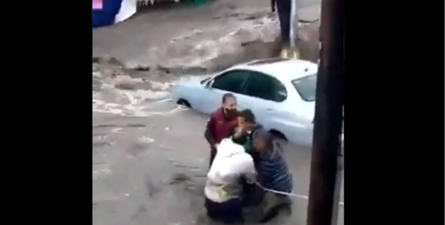 rescatan a bebé