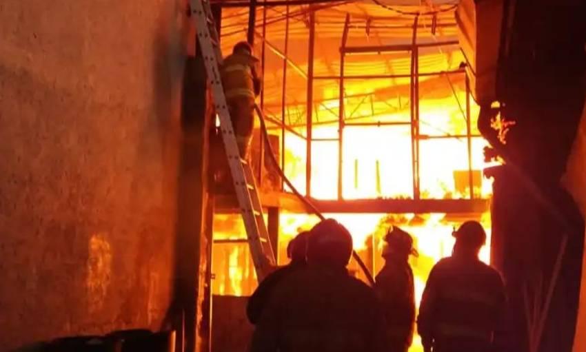 incendio en Chicoloapan